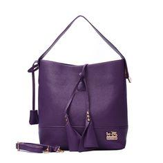 Coach Madison Stud Logo Large Purple Shoulder Bags EVZ