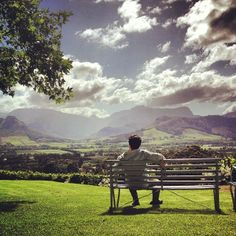 Enjoy the view – and a glass – at La Petite Ferme, Franschhoek, by Emma John Pretoria, Rest Of The World, Adventurer, Holiday Destinations, Cape Town, The Places Youll Go, Continents, Benches, South Africa
