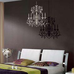 Stencil per decorare le pareti - Lampadari per la camera