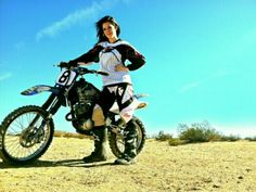 Dirt bike beauty shoot