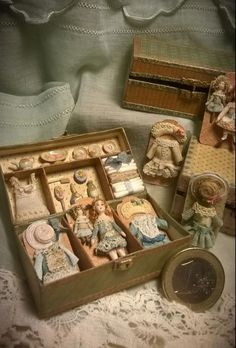 Need to refurbish my doll suitcases like this!