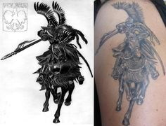 Polish Winged Hussar + tattoo by EwaBlackWidowVsHare.deviantart.com