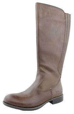 Born Concept Women's Dark Brown Coffee Mylan Leather Riding Boots