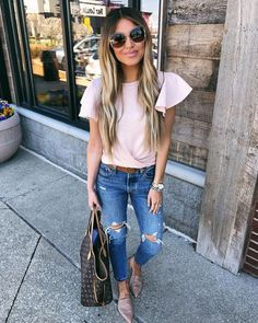"""890 Likes, 23 Comments - Hollie Woodward (@holliewdwrd) on Instagram: """"Snuck in a lunch date with @drwdwrd today those are always the best days! My tee is only $29…"""""""
