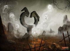 Corrupted Grafstone MtG Art by Bastien L. Deharm - Shadows over Innistrad Art