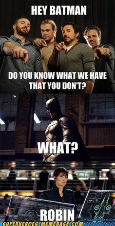 robin, chris hemsworth, jokes, batman, aunts, geeks, fandom, meme, the avengers