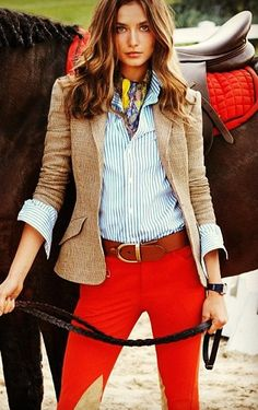 Equestrian Style  ((someone buy me red breeches UGH they're beautiful))