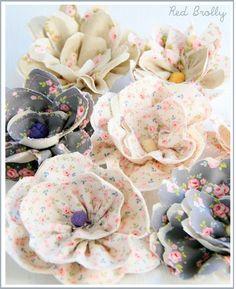 KİRAZ ATÖLYE: kumaş Çiçek (çok amaçlı)