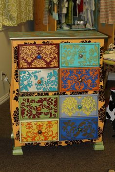 Beautiful Painted Dresser via Sparkles