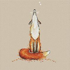 Fox Beautiful Counted Cross Stitch Pattern by SVS | Craftsy #Needleworkstitchesideas