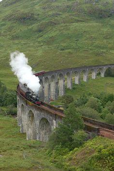 Glenfinnan Viaduct, is a railway viaduct on the West Highland Line in Glenfinnan, Lochaber, Highland, Scotland.