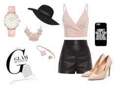 """""""Glam rock"""" by newstyle03 ❤ liked on Polyvore featuring Balenciaga, Rupert Sanderson, Michael Kors, CLUSE, Topshop, GetTheLook, Spring, fashionset and colorchallenge"""