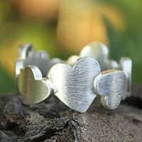 Sterling silver heart ring, 'Much Love' by Jantana - from @NOVICA, They help #artisans succeed worldwide.