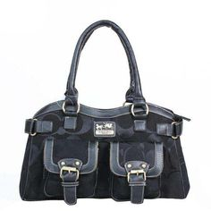 Coach Legacy Logo Signature Medium Black Satchels DQH Is Everyone's Desire, And You Can Take One.