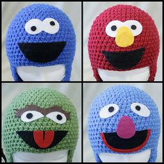 My daughter would love these hats, especially Elmo!