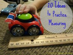 20 ideas to practice measuring - with tape measures, rulers, measuring cups, and non-standard units