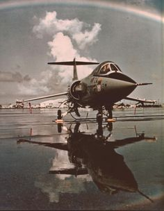 F-104 Starfighter. I worked on these at Edwards AFB as an Aircraft Electrical Repairman. 6515th FMS