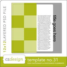template Cathy Zielske's Layered Template No. 031 - Digital Scrapbooking Templates