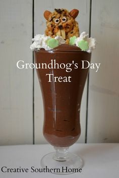 GroundHog's Day Treat | Pudding, Granola ** kids will love this! ** EASY **