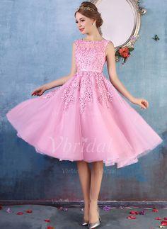 Abendkleider kurz pink