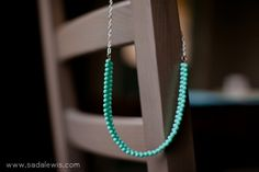 DIY Easy Turquoise Bead Necklace Tutorial-6