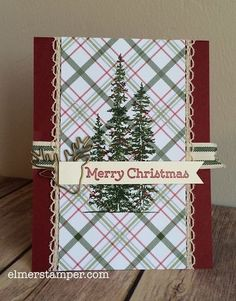 Quick and simple Christmas card featuring the Wonderland Stamp Set by #stampinup created by Kristin Kortonick
