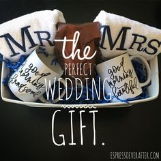 Wedding Gifts For Bride And Groom cheers to wedding season the perfect wedding gift espresso ever after a mommy life Creative Wedding Gifts, Wedding Gifts For Friends, Unique Wedding Gifts, Personalized Wedding Gifts, Trendy Wedding, Gift Wedding, Perfect Wedding Gifts, Wedding Present Ideas, Homemade Wedding Gifts