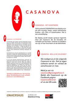 Meer weten over Casanova? Kijk hier! Klik op de link voor onze Facebookpagina met de motivatiekeuze van onze Casanova's!   https://www.facebook.com/casanovalibrarian?ref=hl