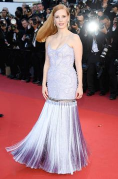 Jury member Jessica Chastain attends the 'Okja' screening during the 70th annual Cannes Film Festival at Palais des Festivals on May 19 2017 in...