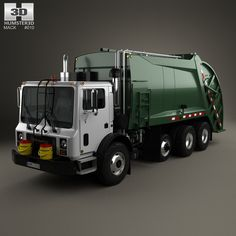 Mack TerraPro Garbage Truck 2007 3d model from humster3d.com
