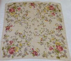 Vintage Designer Laura Ashley Large Silk Scarf by RomanysVintage