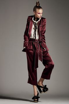 Pyjama dressing, or wearing luxe pyjamas as outerwear, is a must right now. Vogue UK shows you how to pull of louche loungewear a la 1920s Coco Chanel.