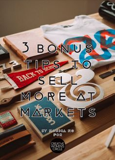 Ever sold at markets or craft fairs and would like to be more successful, sell more and know how to network with fellow vendors? Click through to discover my 3 bonus secrets I'm sharing so you can learn how to sell more at markets and craft fairs!