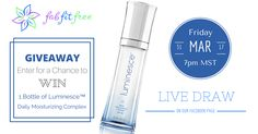 CLICK HERE TO ENTER to WIN a bottle of Juenesse's Premium Luminesce™ Daily Moisturizing Complex. Diminishes the look of fine lines and wrinkles for a youthful-looking complexion. Get all the details here!