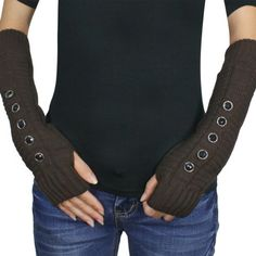 Five Faceted Button Fingerless Fashion Ribbed Knit Soft Acrylic Arm Warmer Gloves - Brown Dahlia,http://www.amazon.com/dp/B005NKKKD4/ref=cm_sw_r_pi_dp_-0YJrbFDA3AB4A96