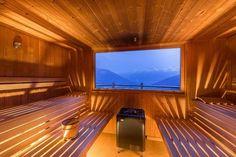 Portable Steam Sauna - We Answer All Your Questions! Modern Saunas, Portable Steam Sauna, Swiss House, Hudson Homes, Sauna Design, Finnish Sauna, Villa Plan, Backyard Pavilion, Bathroom Spa