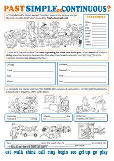ejercicios past simple past continuous 2 eso pdf