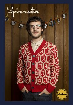 Introducing the ugly Hanukkah sweater // Men's Chanukah Sweater featuring a dreidle print and classy wooden buttons by geltfield