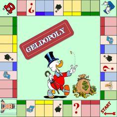 Geldopoly – Juf Wendy in wording Euro, Inside Games, Busy Boxes, Monopoly, Diy For Kids, Spelling, Board Games, Homeschool, Blog