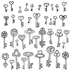 Drawing Doodle Easy Key doodles to try in your bullet journal Key Drawings, Doodle Drawings, Doodle Art, Simple Doodles Drawings, How To Doodle, Simple Sketches, Art Sketches, Planner Doodles, Bujo Doodles