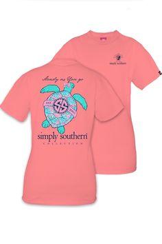 a1985634fa Simply Southern Steady As You Go Tee - Peony