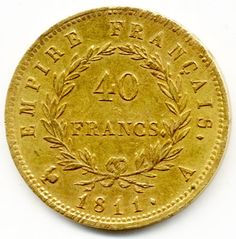 Gold coins images with descriptions. Gold is a good investment with increasing in value. It is much better investment than just keeping cash at home. Gold Coin Image, French Coins, Foreign Coins, Coin Display, Gold And Silver Coins, Rare Coins, Coin Collecting, Napoleon, France