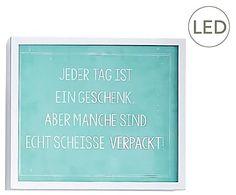 LED-Wand-Schild Geschenk, 25 x 29 cm