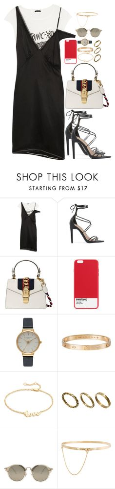 """u better work ~"" by ohsnapitzblanca ❤ liked on Polyvore featuring R13, Public Desire, Gucci, Case Scenario, Olivia Burton, Cartier, Jennifer Zeuner, Made, Miu Miu and Eddie Borgo"