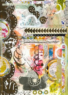 Roben-Marie - Art Journal Page - Clouded | Flickr - Photo Sharing!