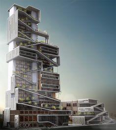 Edificio Habitacional para la nueva Escuela de Arquitectura y Diseño en San Diego,© Brandon Martella