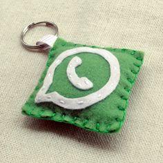 Chaveiro Fofinho Whatsapp - Whatsapp Felt Keychain   Beat Bijou
