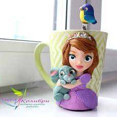Taza, cup polymer clay