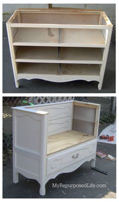 An old dresser is perfect for repurposed furniture projects and makeovers with paint stencils. An old dresser is perfect for repurposed furniture projects and makeovers with paint stencils. Kathy feuerherdtkathi Möbel An […] dresser makeover Redo Furniture, Diy Furniture, Home Furniture, Chairs Repurposed, Painting Kids Furniture, Repurposed Furniture, Recycled Furniture, Home Diy, Vintage Furniture