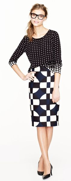 No. 2 pencil skirt in graphic print
